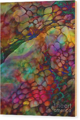 Colored Tafoni Wood Print by Klara Acel