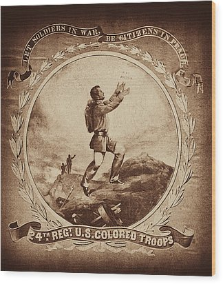 Colored Troop Recruiting Wood Print by Paul W Faust -  Impressions of Light
