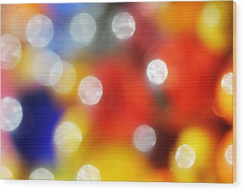 Colorful Abstract 8 Wood Print by Mary Bedy