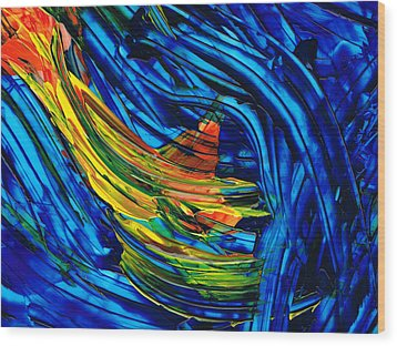 Colorful Abstract Art - Energy Flow 3 - By Sharon Cummings Wood Print by Sharon Cummings