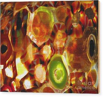 Colorful Abstract Wood Print by Ausra Huntington nee Paulauskaite