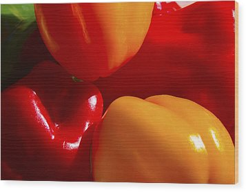 Wood Print featuring the photograph Colorful Bells by Gary Holmes