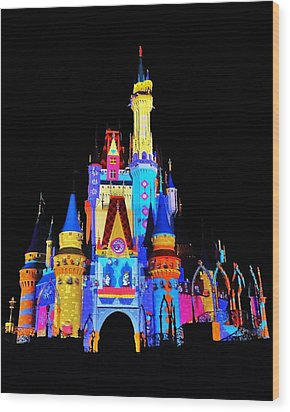 Colorful Castle Wood Print by Benjamin Yeager