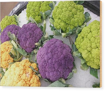 Wood Print featuring the photograph Colorful Cauliflower by Caryl J Bohn