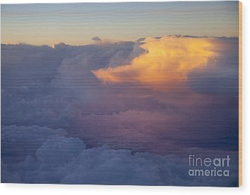 Colorful Cloud Wood Print by Brian Jannsen