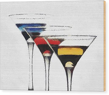 Colorful Cocktails Wood Print by Georgi Dimitrov