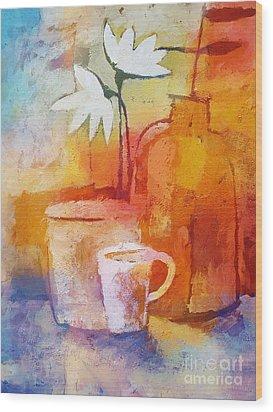Colorful Coffee Wood Print by Lutz Baar