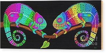 Colorful Companions Wood Print by Nick Gustafson