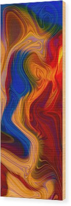 Colorful Compromises Wood Print by Omaste Witkowski