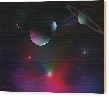 Colorful Cosmos Wood Print by Ricky Haug