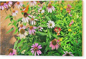 Colorful Wood Print by Debbie Sikes