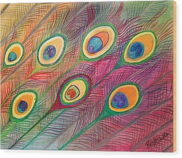 Colorful Delusions Wood Print