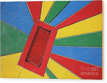 Colorful Drain Wood Print by James Brunker