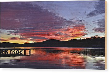 Colorful Evening Wood Print by Susan Leggett