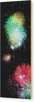 Colorful Explosions No3 Wood Print by Weston Westmoreland
