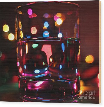 Colorful Glass Bokeh Wood Print by Jimmy Ostgard