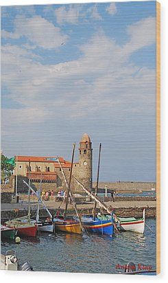 Colorful Harbour Wood Print