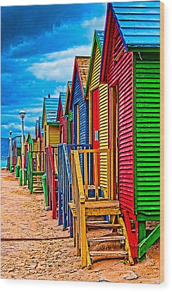 Colorful Houses At St James Wood Print by Cliff C Morris Jr