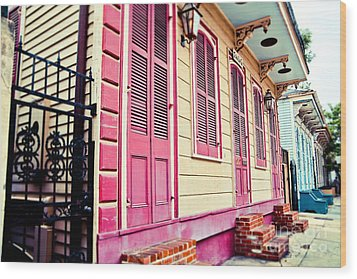Wood Print featuring the photograph Colorful Houses by Sylvia Cook