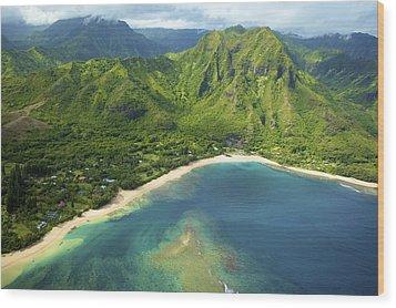 Colorful Kauai Coastline Wood Print by Kicka Witte