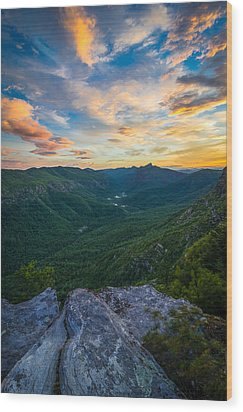 Colorful Linville Sunrise Wood Print