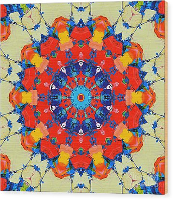 Colorful Mandala Wood Print by Ana Maria Edulescu