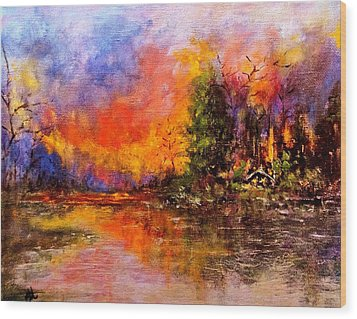 Colorful Night.. Wood Print