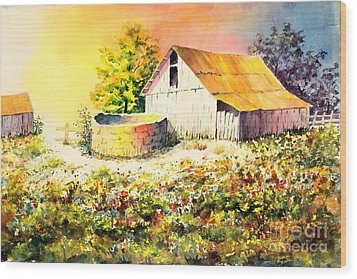 Colorful Old Barn Wood Print