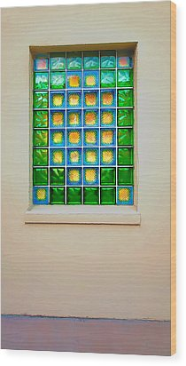 Colorful Savannah Window Wood Print