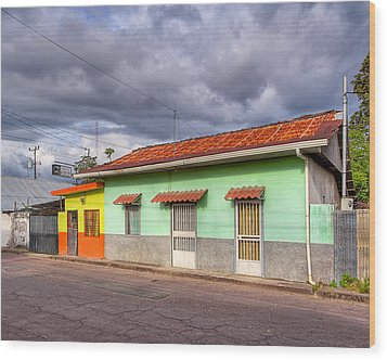 Colorful Streets Of Costa Rica - Liberia Wood Print by Mark E Tisdale