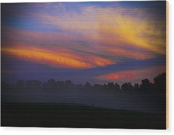 Colorful Sunset Wood Print by Debra Crank