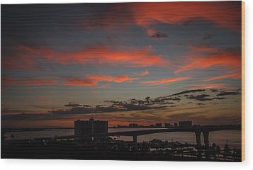 Wood Print featuring the photograph Colorful Sunset by Jane Luxton