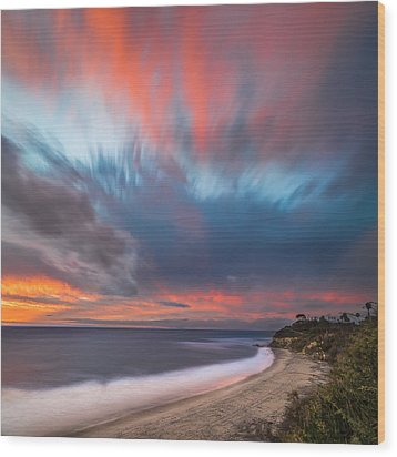 Colorful Swamis Sunset - Square Wood Print by Larry Marshall