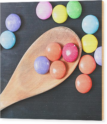 Colorful Sweets Wood Print by Tom Gowanlock