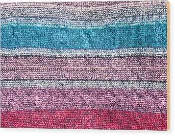 Colorful Textile Wood Print by Tom Gowanlock