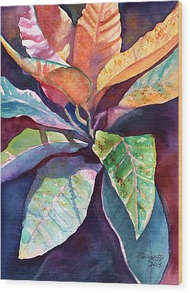 Colorful Tropical Leaves 3 Wood Print