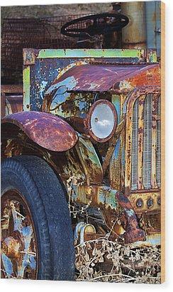Colorful Vintage Car Wood Print by Phyllis Denton