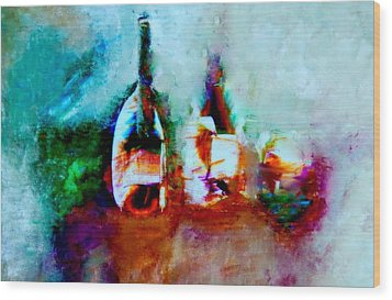 Colorful Wine Serenade Wood Print by Lisa Kaiser