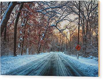 Colorful Winter Wood Print by Jerome Lynch