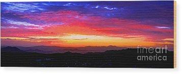Colorific Sunset Wood Print