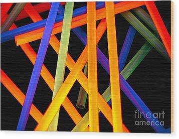 Coloring Between The Lines Wood Print by Charles Dobbs