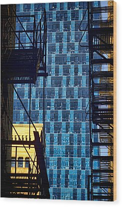 Colors And Architecture From The Alley Wood Print by Sven Brogren