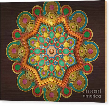 Colors Burst Wood Print by Bedros Awak