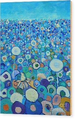 Colors Field In My Dream Wood Print by Ana Maria Edulescu