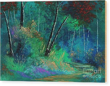 Colors Of A Dream Wood Print by Steven Lebron Langston