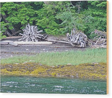 Colors Of Alaska - Layers Of Greens Wood Print
