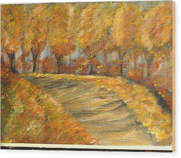 Colors Of Autumn Wood Print by Corina  Lupascu