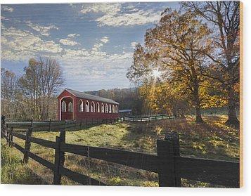 Colors Of Autumn Wood Print by Debra and Dave Vanderlaan