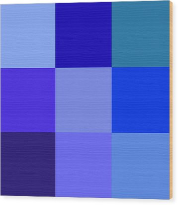 Colors Of Blue Wood Print by Karon Melillo DeVega
