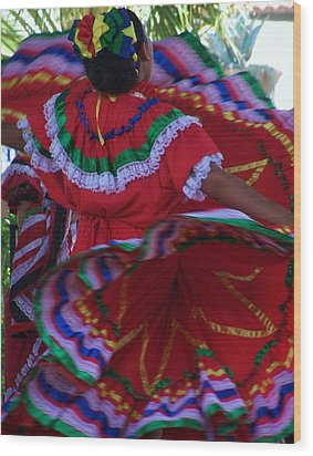 Colors Of Dance Wood Print